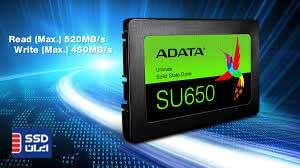 اس اس دی ای دیتا 120gb SU650 سرعت خواندن 520